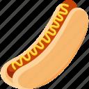 fast food, food, hotdog, iconset, illustrative, palpable, tangible icon