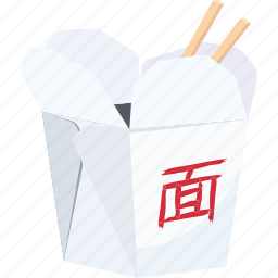 chinese, chopsticks, fast food, illustrative, noodles, palpable, tangible icon