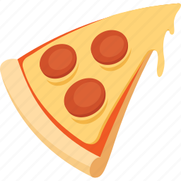 fast food, food, illustrative, palpable, pizza, slice, tangible icon