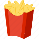 fast food, food, french fries, fries, illustrative, palpable, tangible icon