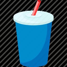 coke, fast food, gulp, palpable, soda, soft drink, straw icon