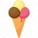 cone, dessert, drip, food, gelato, ice cream, palpable icon