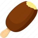 chocolate, dessert, food, ice cream, ice cream bar, illustrative, palpable icon