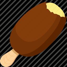 chocolate, dessert, food, ice cream, ice cream bar, illustrative, palpable icon