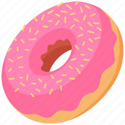 donut, doughnut, food, glacing, palpable, sprinkles, sweets icon
