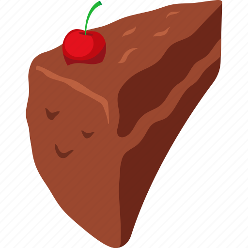 cake, cherry, chocolate cake, food, palpable, slice, sweets icon