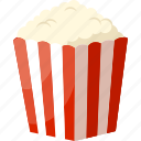 bucket, cinema, food, movies, palpable, popcorn, snacks icon