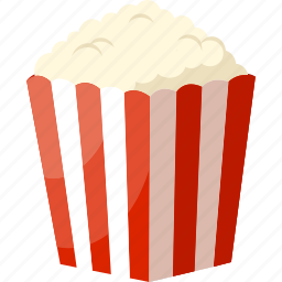 bucket, cinema, food, movies, palpable, popcorn, snacks icon