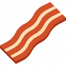 bacon, food, illustrative, meat, palpable icon