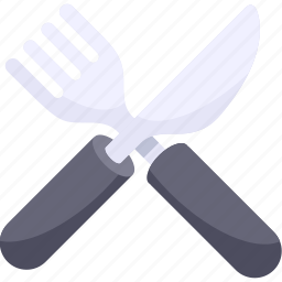 breakfast, food, fork, illustrative, knife, palpable, silverware icon