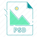 extension, file type, format, image, psd, type