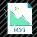 bat, extension, file type, format, image, type