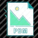 extension, file type, format, image, pbm, type icon