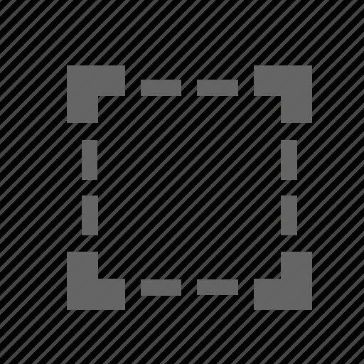area, graphic, select, square, tool icon