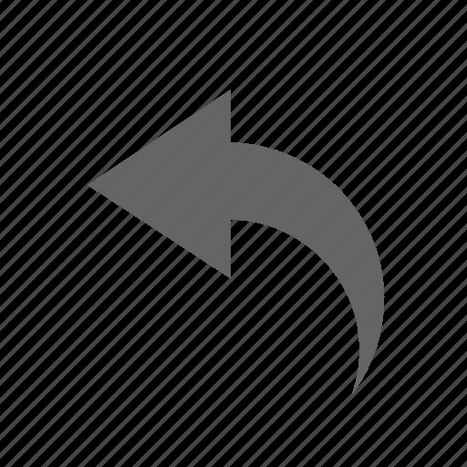 arrow, back, navigation icon