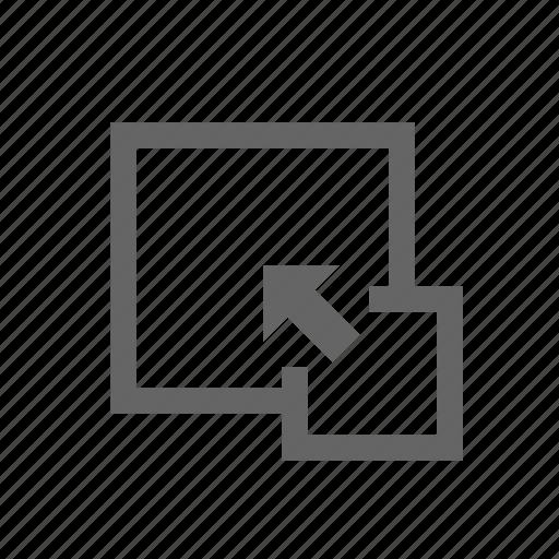 arrow, expand, increase, window, zoom icon
