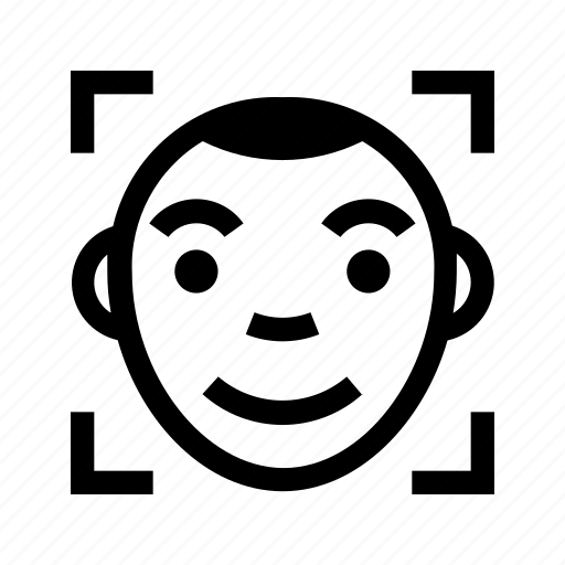 face, facial, identification, recognition icon