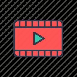 cinema, clip, film, movie, play, video icon