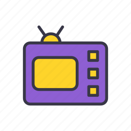 appliances, device, electronic, home, screen, television, tv icon