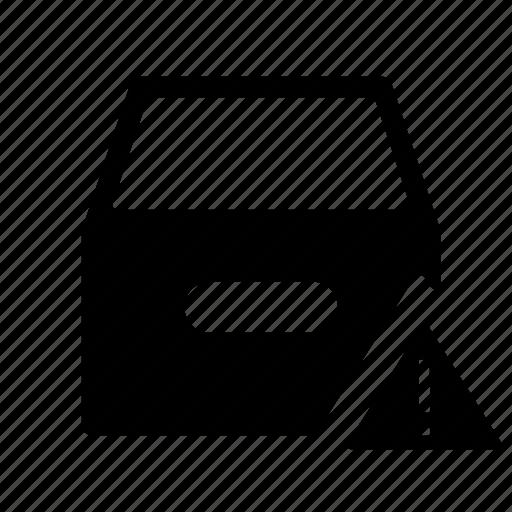 banjo, box, case, framework, inbox, inbox warning, receptacle, shell, warning icon