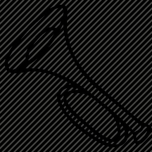brass, horn, instrument, music, trumpet icon