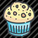 muffin, dessert, sweet, bakery, cupcake