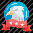 eagle, banner, bird, emblem, usa