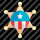 badge, sheriff, emblem, officer, star