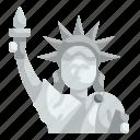 liberty, landmark, architecture, statue, monument