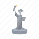 american, cartoon, freedom, liberty, monument, statue, usa icon