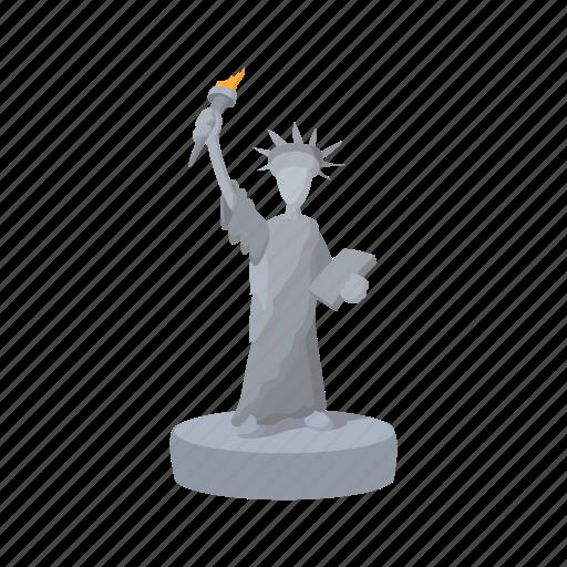 american, cartoon, freedom, liberty, monument, statue, usa icon
