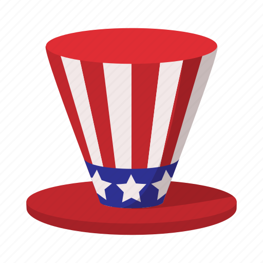 america, american, cartoon, hat, independence, july, usa icon