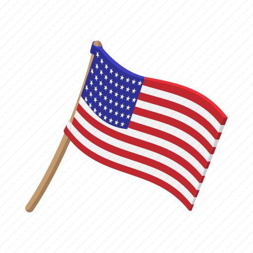 american cartoon flag independence july pole usa