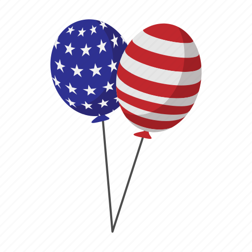 american, baloon, holiday, independence, july, star, usa icon