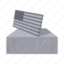 america, american, architecture, flag, stone, strength, usa icon