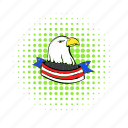 bald, bird, comics, eagle, independence, july, usa icon
