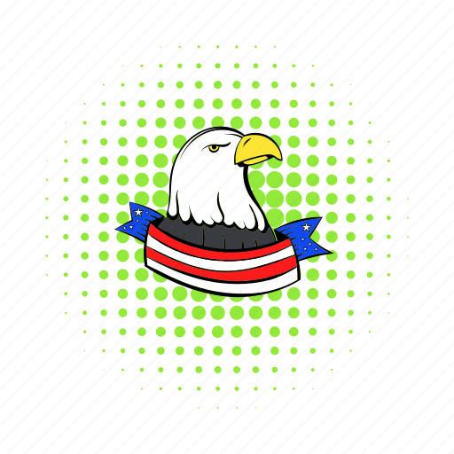 bald, bird, comics, eagle, independence, july, usa icon