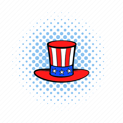 america, american, comics, hat, independence, july, usa icon
