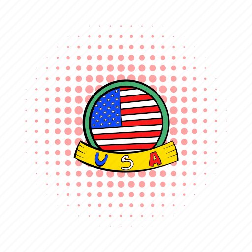 american, badge, comics, independence, july, ribbon, usa icon