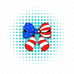 american, bow, comics, girl, independence, july, usa icon