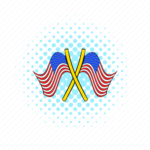 american, comics, flag, independence, july, pole, usa icon