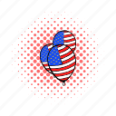 american, baloon, comics, holiday, independence, july, usa icon