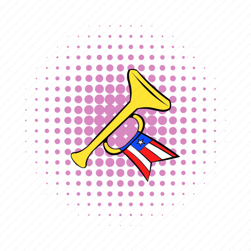 america, comics, culture, flag, horn, noise, vuvuzela icon