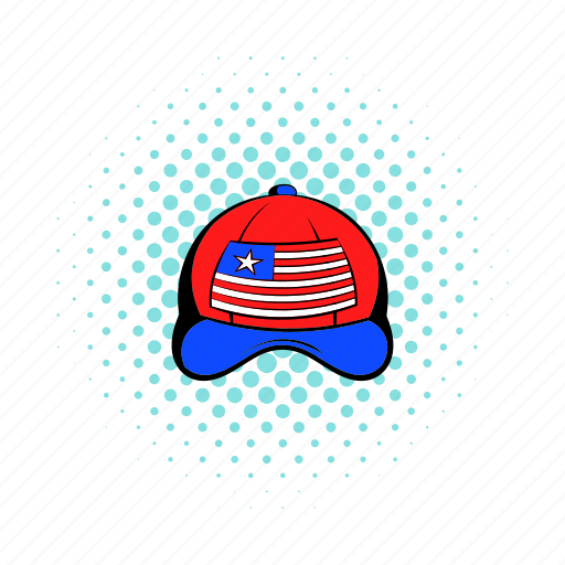 american, cap, comics, flag, hat, red, usa icon
