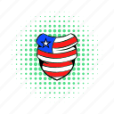 american, comics, flag, hat, neckerchief, red, usa icon
