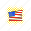 american, comics, flag, independence, july, pole, usa icon