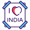 indian favorite, indian flag, indian heart, indian republic, love card, love india icon
