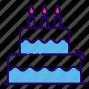 bakery item, birthday cake, cake, dessert, sweet cake icon