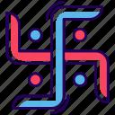 hindu swastika, hinduism swastika, religious sign, swastika emblem, swastika symbol icon