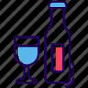 alcoholic beverage, alcoholic drink, celebration champagne, wine, wine bottle icon